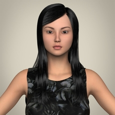 Realistic Cute Sexy Girl 3D Model