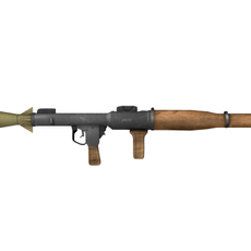 Low-poly Grenade Launcher 3D Model