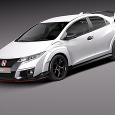 Honda Civic Type R 2016 3D Model