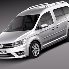 Volkswagen Caddy Passenger van 2016 3D Model