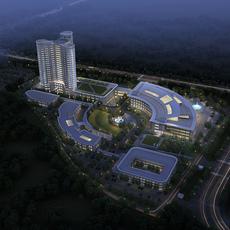 Hospital building 001 3D Model