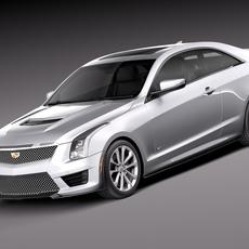 Cadillac ATS-V Coupe 2016 3D Model