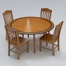 Chair and Table Set 10 3D Model