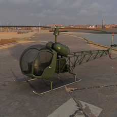 Helicopter Bell-47 3D Model