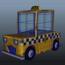 Taxi Cab Cartoon 3D Model