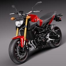 Yamaha FZ-09 2016 3D Model