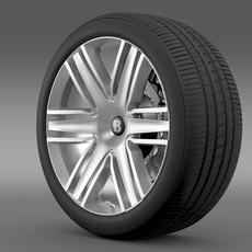 Bentley Continental GTC 2015 wheel 3D Model