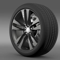 Chrysler 300 SRT8 Satin Vapor wheel 3D Model