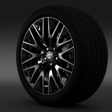 Nissan Cima Hybrid wheel 3D Model