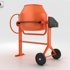 Mini Concrete Mixer 3D Model