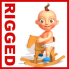 Baby Jake Cartoon Rigged 3D Model