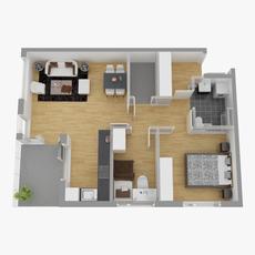 Floor plan 03 3D Model