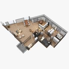 floor plan 05 3D Model
