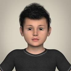 Realistic Little Boy 3D Model