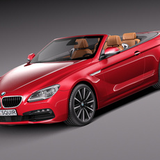 BMW 6-Series Convertible 2015 3D Model