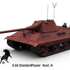 E-50 StandardPanzer Ausf. A 3D Model