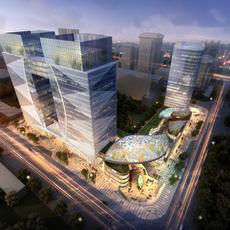 City shopping mall 089 3D Model
