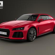 Audi Sport Quattro Laserlight 2014 3D Model