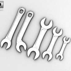 Wrench Set 002 3D Model
