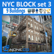 NYC Block Set 3 3D Model