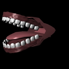 Teeth with Tongue 3D Model