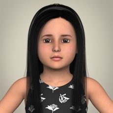 Realistic Little Girl 3D Model