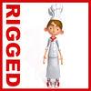 Chef cartoon 02 3D Model