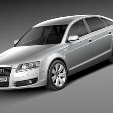Audi A6 C6 Sedan 2004-2008 3D Model