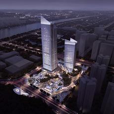 Business Center Office Building 3D Model
