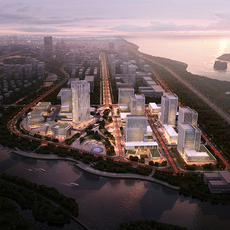 City business center 3D Model