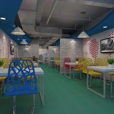 Fast-food restaurant 3D Model