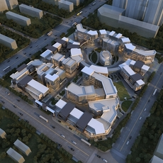Science and Technology Industrial Park 3D Model