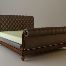 Sleigh Bed Detailed 3D Model