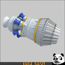 Aircraft Turbine engine 01 3D Model