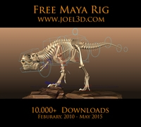 T.rex 2 from Joel Anderson for Maya 2.0.2