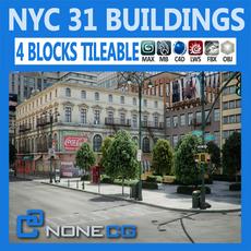 NYC - 4 Blocks - 31 Buildings 3D Model
