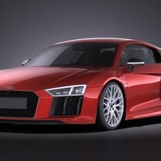 Audi R8 V10 Plus 2016 VRAY 3D Model