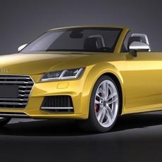 Audi TTS Roadster 2015 VRAY 3D Model