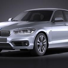 BMW 1-Series 5door 2016 VRAY 3D Model