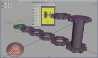 AUTO ANIMATION FOR COG-WHEELS  ,WORKING WITH UTILITY FROM HYPERSHADE-*VIDEO*