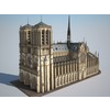 Notre-Dame de Paris Cathedral 3D Model