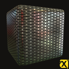 4096 Chrome Peforated Heat Shield PBR textures