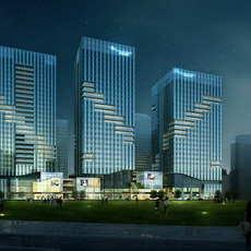 Skyscraper Office Building 030 3D Model