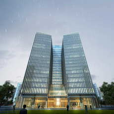 Skyscraper Office Building 037 3D Model