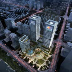 Skyscraper Office Building 034 3D Model