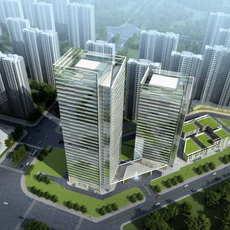 Skyscraper Office Building 036 3D Model