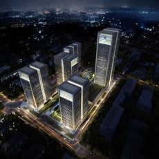 Skyscraper Office Building 038 3D Model