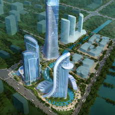 Skyscraper Office Building 039 3D Model