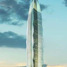 Skyscraper Office Building 045 3D Model
