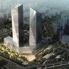 Skyscraper Office Building 059 3D Model